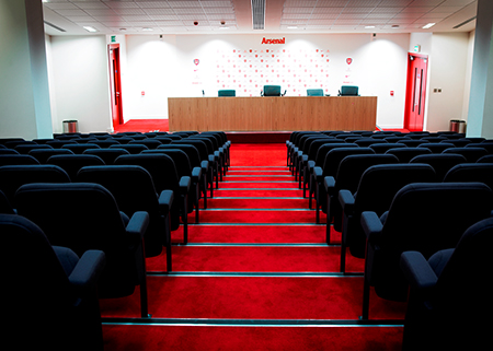 Arsenal Football Club Press Conference Room Seating
