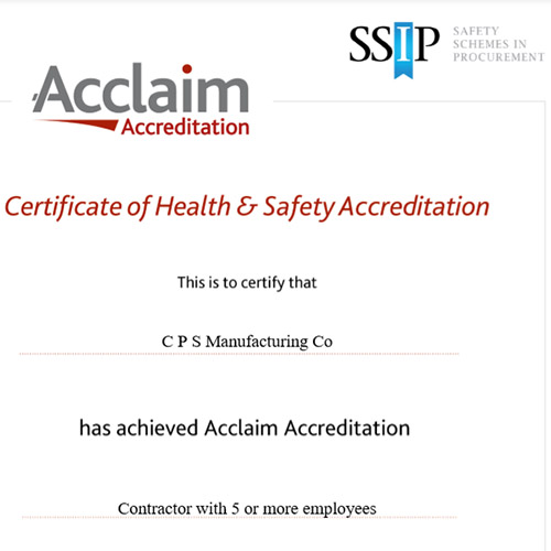 CPS SSIP Acclaim Accreditation