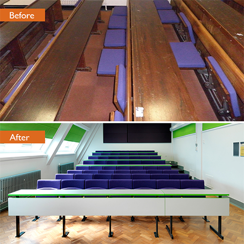 Should I refurbish or refurbish my fixed seating?