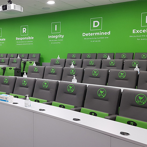 How to display your brand identity in your lecture theatre