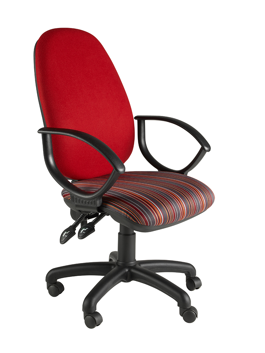 Clavo Deluxe Operator Chair With Fixed Loop Arms