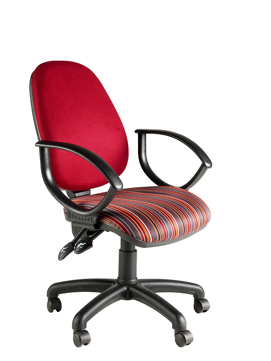 Clavo High Back Twin Lever Operator Chair With Fixed Loop Arms