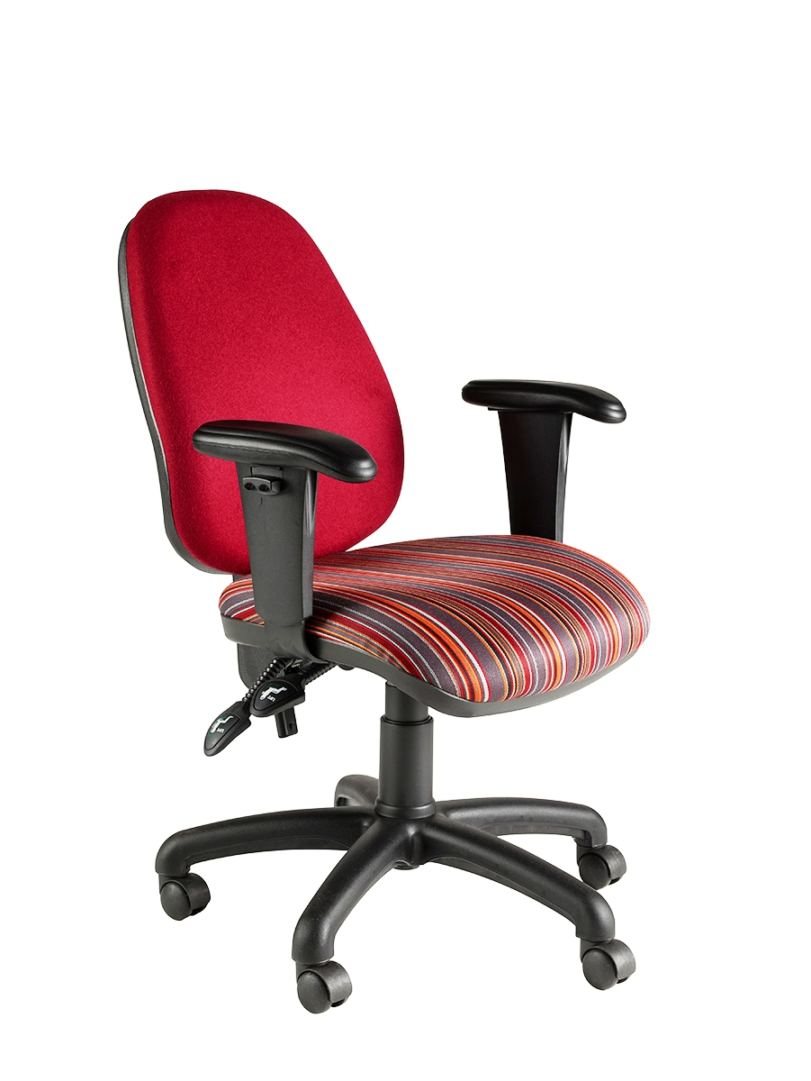 Clavo High Back Twin Lever Operator Chair With Height Adjustable Arms