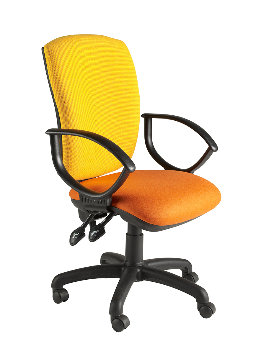 Clavo Tall Square High Back Operator Chair With Fixed Loop Arms